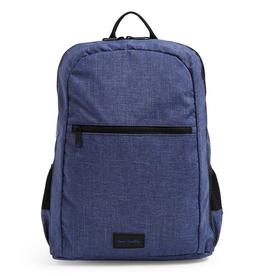 VERA BRADLEY ReActive Grand Backpack Dark Blue Heather