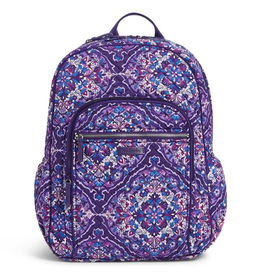 VERA BRADLEY Iconic Campus Backpack Regal Rosette