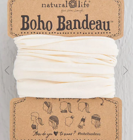 NATURAL LIFE CREATIONS Boho Bandeau Solid Cream