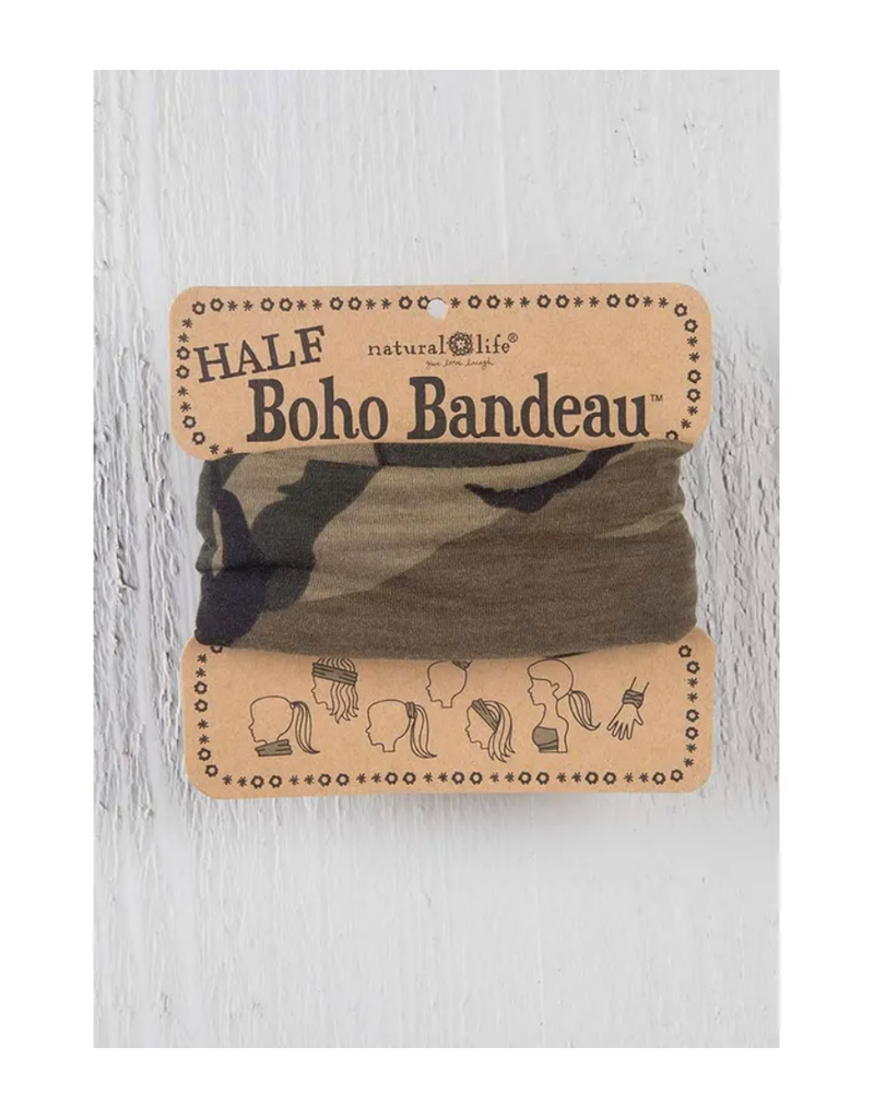 NATURAL LIFE CREATIONS Half Boho Bandeau Olive Camo