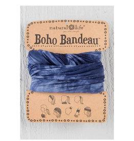 NATURAL LIFE CREATIONS Boho Bandeau Tie Dye Navy