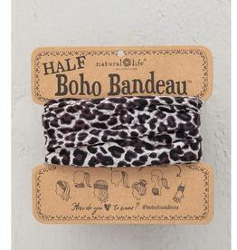 NATURAL LIFE CREATIONS Half Boho Bandeau Gray Leopard