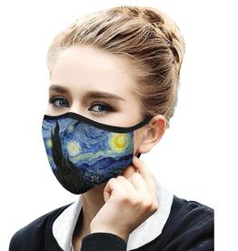 "RAINCAPER BY GAZEBO GREEN Face Mask - van Gogh ""Starry Night"""