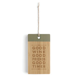 Bar Cutting Board Good Wine Good Friends