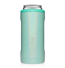 BRUMATE LLC Hopsulator Slim Glitter Aqua 12 oz