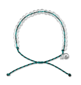4OCEAN Beaded Bracelet SEA OTTER- Black/Teal