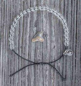 4OCEAN Beaded Bracelet SHARK-Black