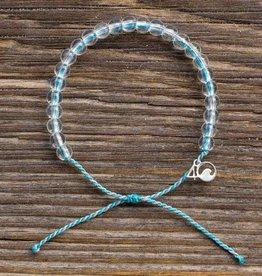 4OCEAN Beaded Bracelet DOLPHIN-Aqua/Gray