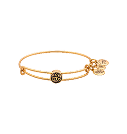 ALEX AND ANI Triskelion Symbol Bead Bangle Gold