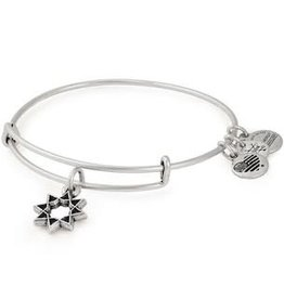 ALEX AND ANI Charm Bangle 8-Point Star in Silver