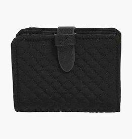 VERA BRADLEY Iconic RFID Small Wallet Classic Black