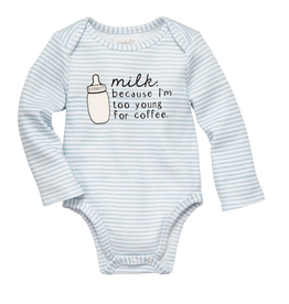 MUDPIE Onesie Too Young For Coffee