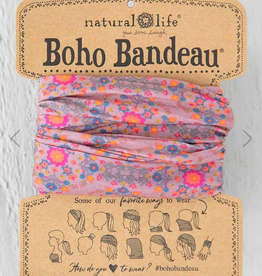 NATURAL LIFE CREATIONS Boho Bandeau Pink Flower Stamp