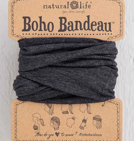 NATURAL LIFE CREATIONS Boho Bandeau Heathered Charcoal