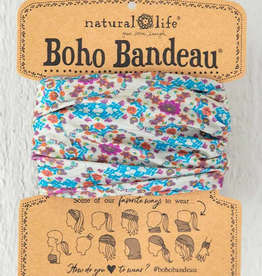 NATURAL LIFE CREATIONS Boho Bandeau Gray Flower Stamp