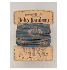 NATURAL LIFE CREATIONS Boho Bandeau Sage Gold Medallions