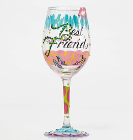 LOLITA Hand Painted Wine Glass Gift-Best Friends Always