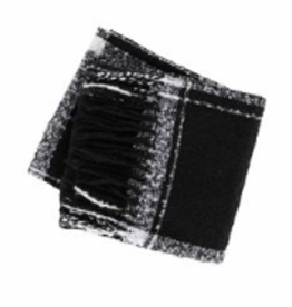 MUDPIE Scarf Plaid Wrap Black