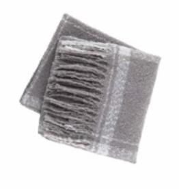 MUDPIE Scarf Plaid Wrap Gray