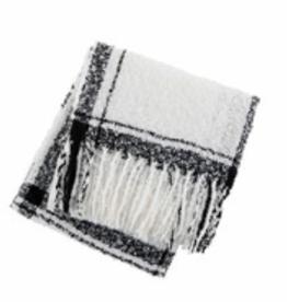 MUDPIE Scarf Plaid Wrap White