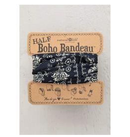 NATURAL LIFE CREATIONS Half Boho Bandeau Black Cream Mandala