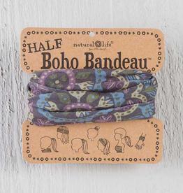 NATURAL LIFE CREATIONS Half Boho Bandeau Black Navy Purple Cream Mandala