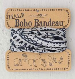NATURAL LIFE CREATIONS Half Boho Bandeau Cream Black Mandala