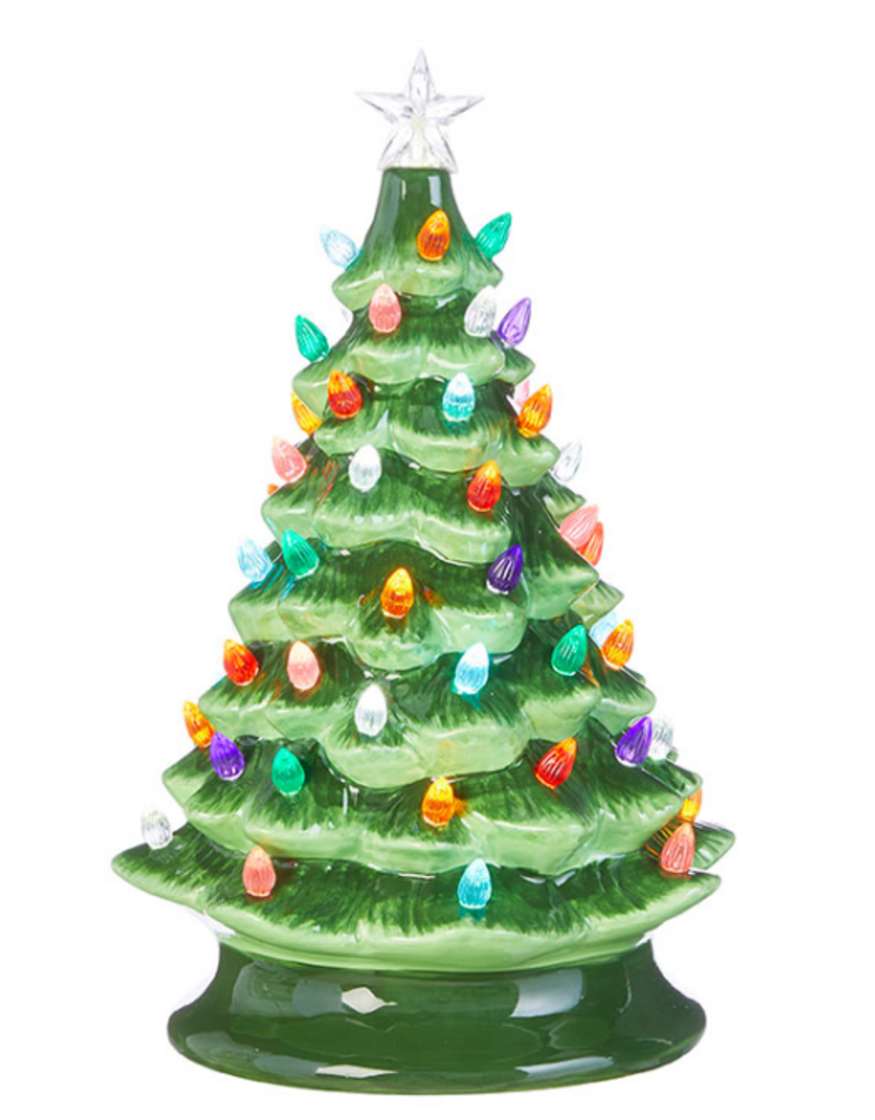 "RAZ 13"" Porcelain Vintage Lighted Tree"