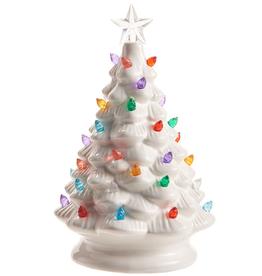 "RAZ Ceramic Lighted Tree White 8"""