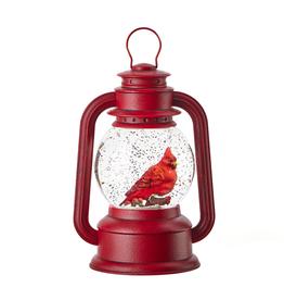 RAZ Water Globe Cardinal Lantern Light