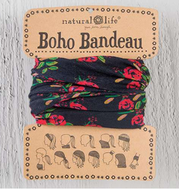 NATURAL LIFE CREATIONS Boho Bandeau Black Blooms