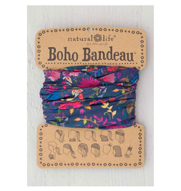 NATURAL LIFE CREATIONS Boho Bandeau Wildflowers Navy