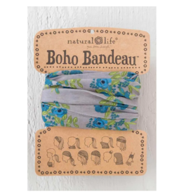 NATURAL LIFE CREATIONS Boho Bandeau Blue Taupe Blooms