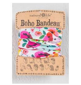 NATURAL LIFE CREATIONS Boho Bandeau Pink Floral Polka
