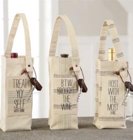 MUDPIE Wine Bag w/Corkscrew-Host With the Most Grainsack