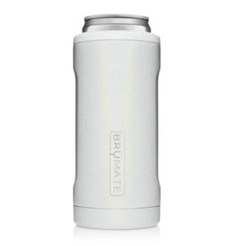 BRUMATE LLC Hopsulator Slim Glitter White 12 oz