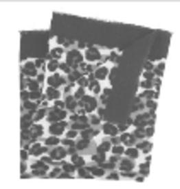 MUDPIE Scarf Leopard Black