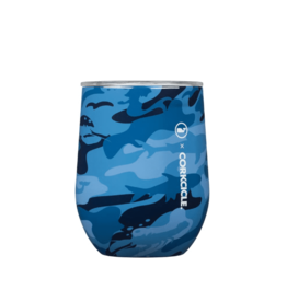 CORKCICLE 12 oz Stemless Wine Vineyard Vines Blue Camo