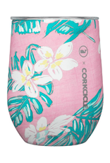 CORKCICLE 12oz Stemless Vineyard Vines Pink Tropical Flowers