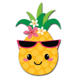 OUTSIDE THE BOX GIFTWARE Groovy Pineapple  Button