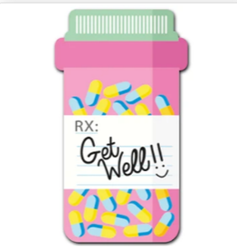 OUTSIDE THE BOX GIFTWARE Get Well Pills Button