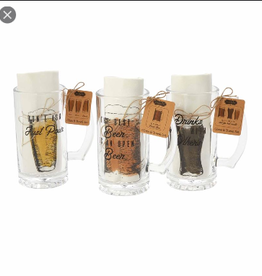 MUDPIE Beer Mug and Towel Set