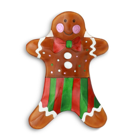 Glass Fusion Plate Gingerbread Man