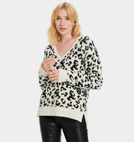 UGG Cecilia V Neck Pullover Snow Leopard