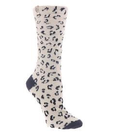 UGG Leslie Graphic Crew Sock White Micro Leopard
