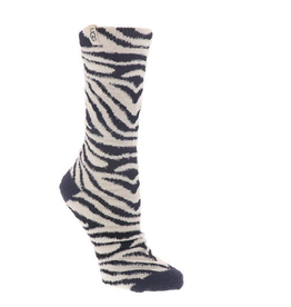 UGG Leslie Graphic Crew Sock Black/White Zebra