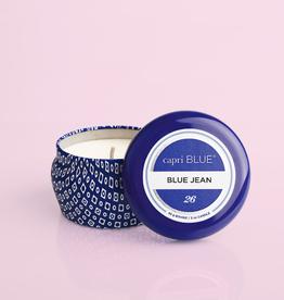 CAPRI BLUE Blue Jean Printed Travel Tin 8.5 oz