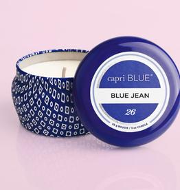 CAPRI BLUE Blue Jean Printed 3 oz Travel Tin