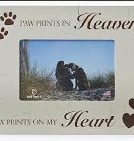 DOG SPEAK Paw Prints in Heaven  7x9 Frame