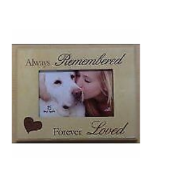 DOG SPEAK Always Remembered ..Forever Loved 7x9 Frame